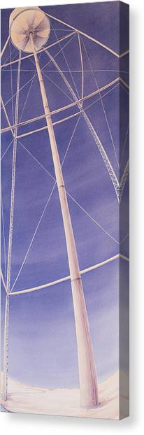 Under The Water Tower Canvas Print