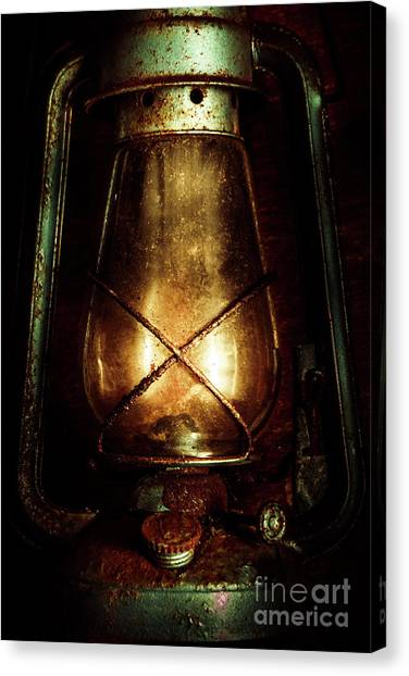 Metallic Canvas Print - Underground Mining Lamp  by Jorgo Photography - Wall Art Gallery