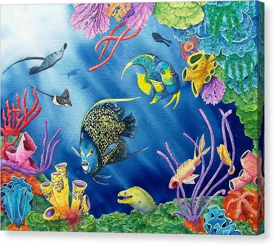Coral Reefs Canvas Print - Undersea Garden by Gale Cochran-Smith