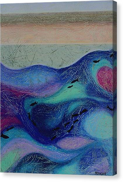 Undersea Movement Canvas Print