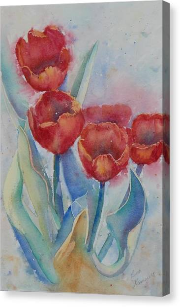 Undersea Tulips Canvas Print