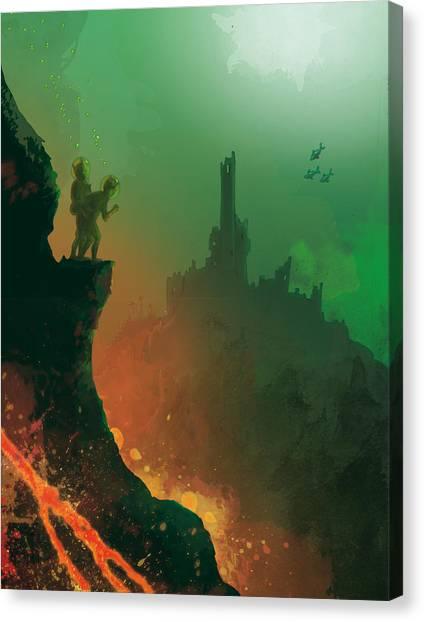 Undersea Volcano Canvas Print
