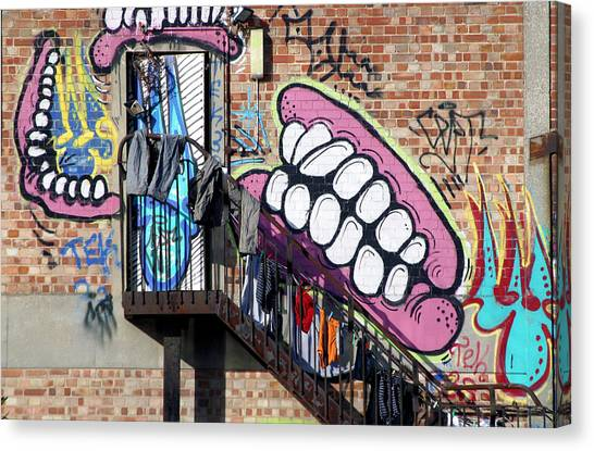 Underteeth The Stairs Canvas Print by Jez C Self