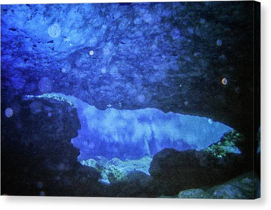 Underwater Caves Canvas Print - Underwater Abstract by Luis Cifuentes