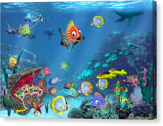 Coral Reefs Canvas Print - Underwater Fantasy by Doug Kreuger