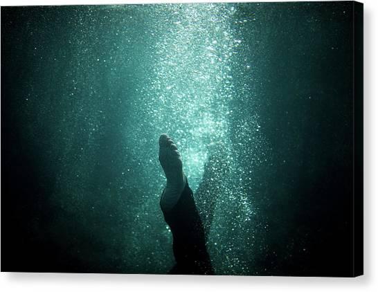 Underwater Foot Canvas Print