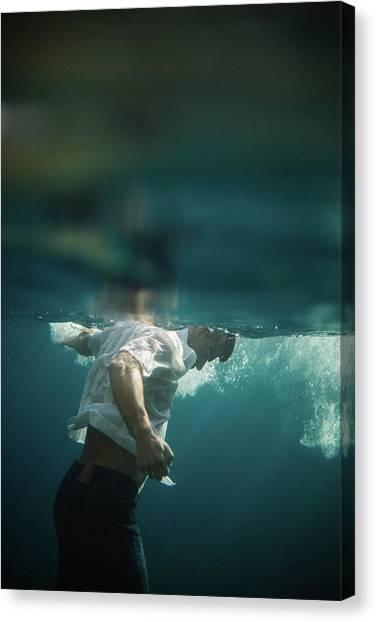 Underwater Man Canvas Print