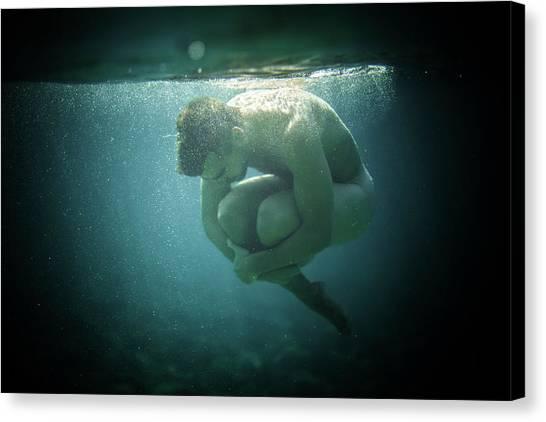Underwater Rock Canvas Print