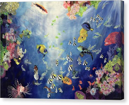 Tropical Fish Canvas Print - Underwater World II by Odile Kidd