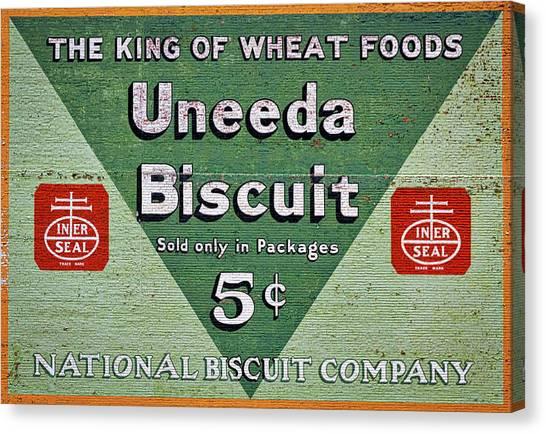 Nabisco Canvas Print - Uneeda Biscuit Vintage Sign by Stuart Litoff