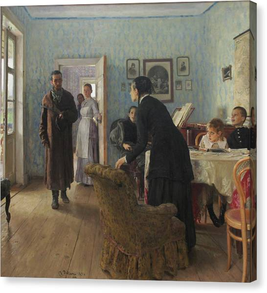 Unexpected Visitors Canvas Print by Ilya Repin