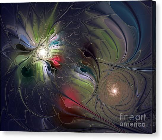 Lyrical Abstraction Canvas Print - Unfading by Karin Kuhlmann