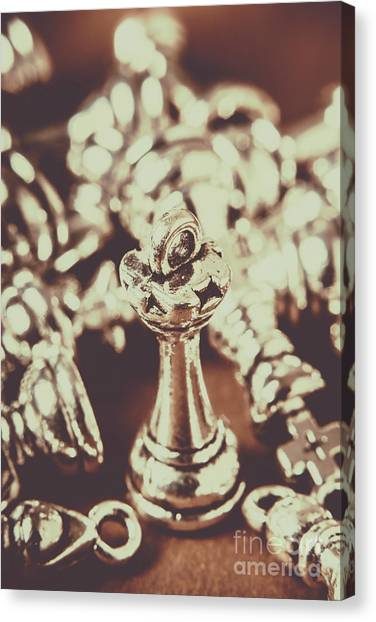 Bishops Canvas Print - Unfallen Tower Of The Chess Game by Jorgo Photography - Wall Art Gallery