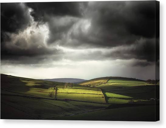 Peak District Canvas Print - Unfolding Drama by Chris Fletcher