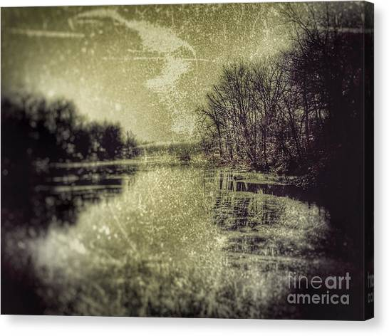 Unfrozen Lake Canvas Print