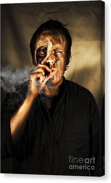 Life-threatening Canvas Print - Unhealthy Habit by Jorgo Photography - Wall Art Gallery