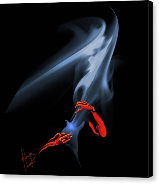 Unholy Smoke Canvas Print