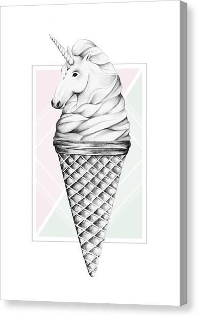 Unicorns Canvas Print - Unicone by Barlena
