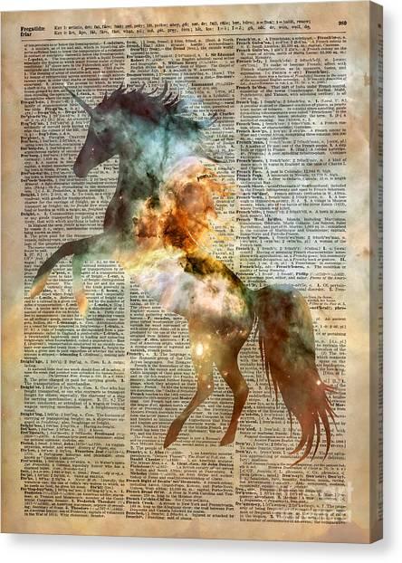 Unicorns Canvas Print - Unicorn Carina Nebula by Anna W