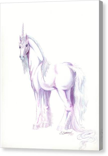 Unicorn Canvas Print by Christine Winters