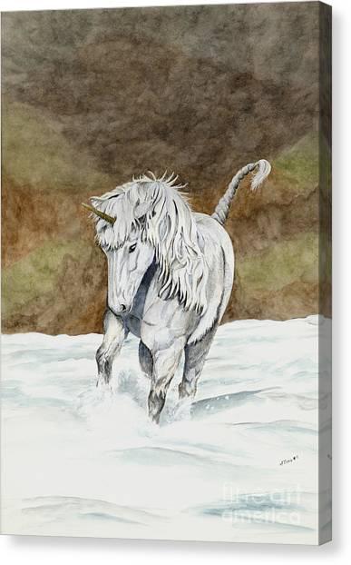 Unicorn Icelandic Canvas Print