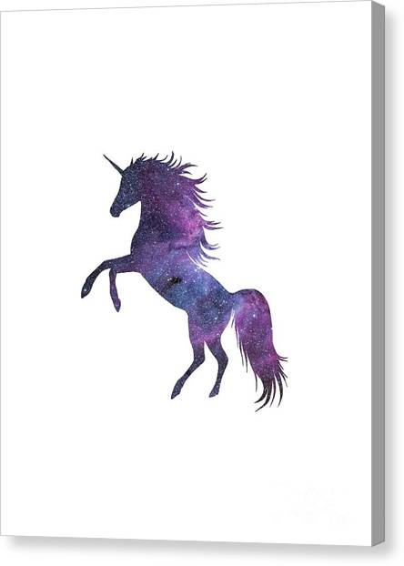 Unicorns Canvas Print - Unicorn In Space-transparent Background by Anna Wilkon