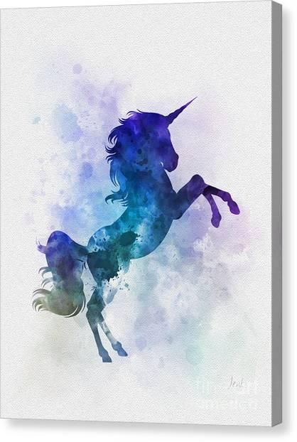 Unicorns Canvas Print - Unicorn by Rebecca Jenkins