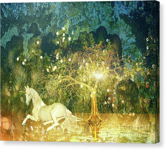 Unicorn Resting Series 3 Canvas Print