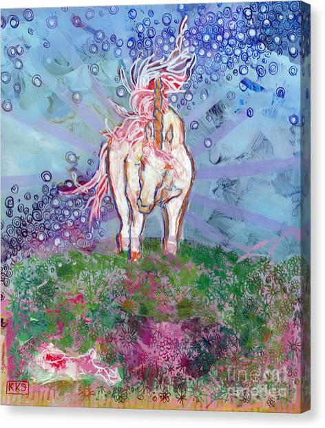 Mythological Creatures Canvas Print - Unicorn Tears by Kimberly Santini