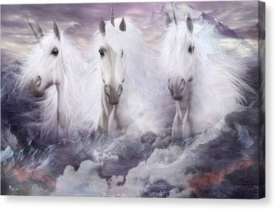 Unicorns Of The Mountains Canvas Print