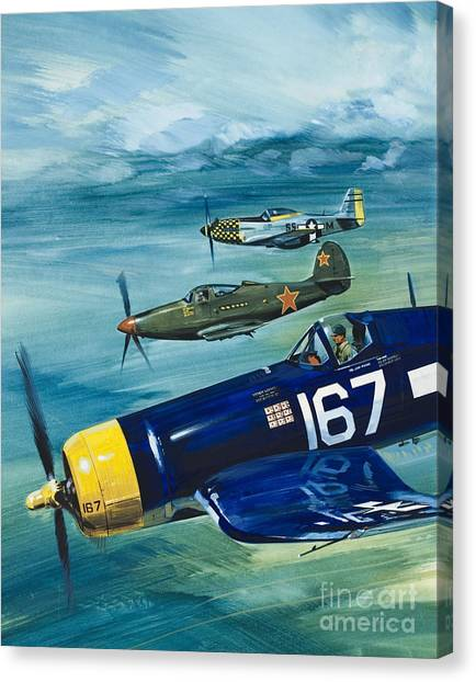 Wii Canvas Print - Unidentified Aircraft by Wilf Hardy