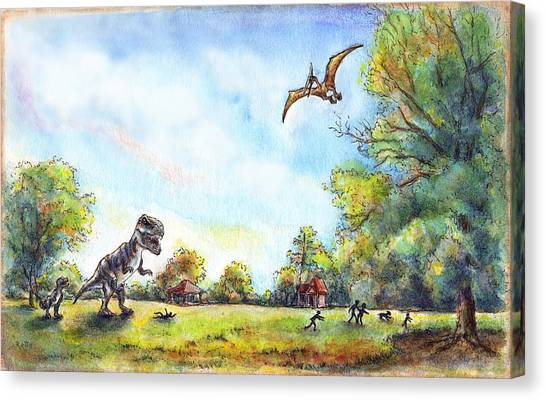 Uninvited Picnic Guests Canvas Print