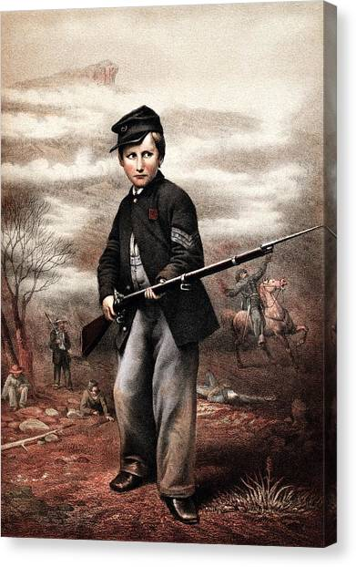 Rifles Canvas Print - Union Drummer Boy John Clem by War Is Hell Store