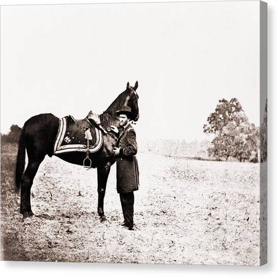 War Horse Canvas Print - Union General Ulysses S. Grant by Everett