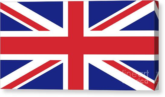 London Canvas Print - Union Jack Ensign Flag 1x2 Scale by Bruce Stanfield