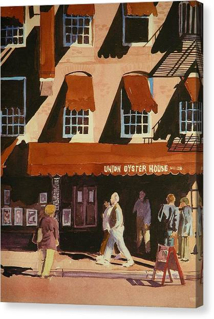 Union Oyster House Of Boston Canvas Print by Walt Maes