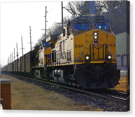 Union Pacific 7265 Canvas Print by Jame Hayes