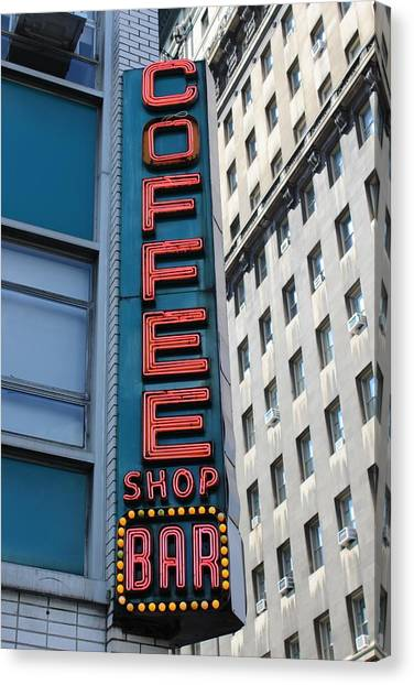 Art Deco Canvas Print - Union Square Coffee Shop Sign by Luke DeDeus