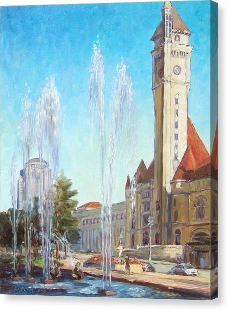 Union Station In St.louis Canvas Print