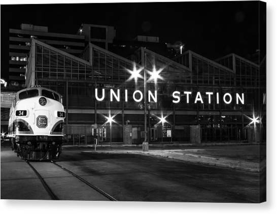 Union Station Night Glow Canvas Print