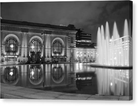 Kansas City Royals Canvas Print - Union Station Reflections by Steven Bateson