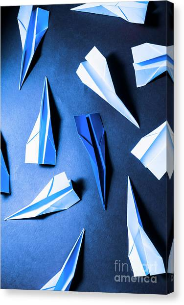 Paper Planes Canvas Print - Unique Approach by Jorgo Photography - Wall Art Gallery
