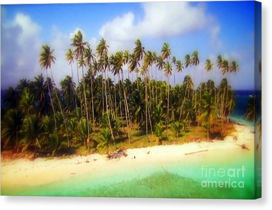 Unique Symbolic Island Art Photography Icon Zanzibar Sands Beaches Tourist Destination. Canvas Print