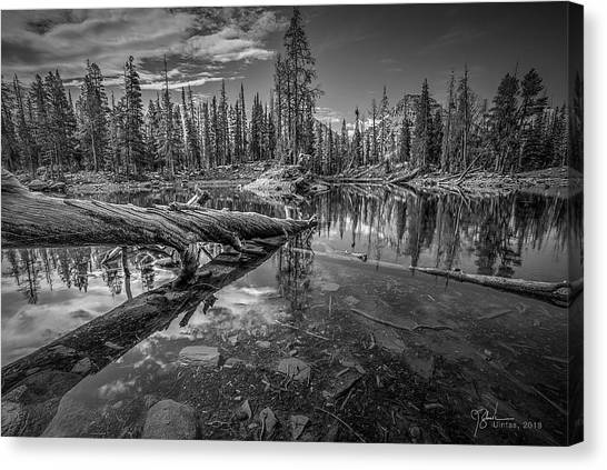 Uinta Canvas Print - Unita Mountain Pond by James Zebrack