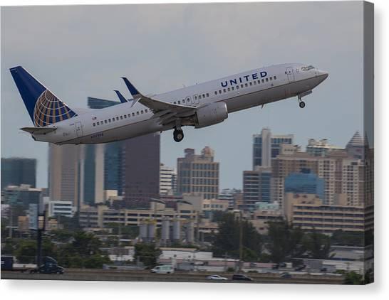 United Airlinea Canvas Print