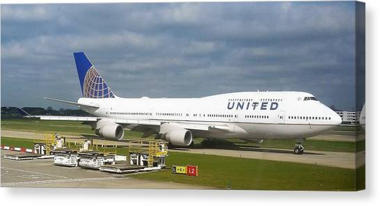 United Airlines Boeing 747-400 Canvas Print