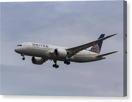 United Airlines Boeing 787 Canvas Print