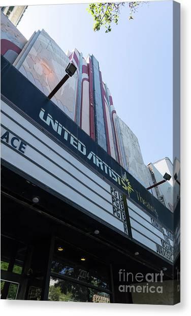 United Artists Berkeley 7 Movie Theater At University Of California Berkeley Dsc6316 Canvas Print