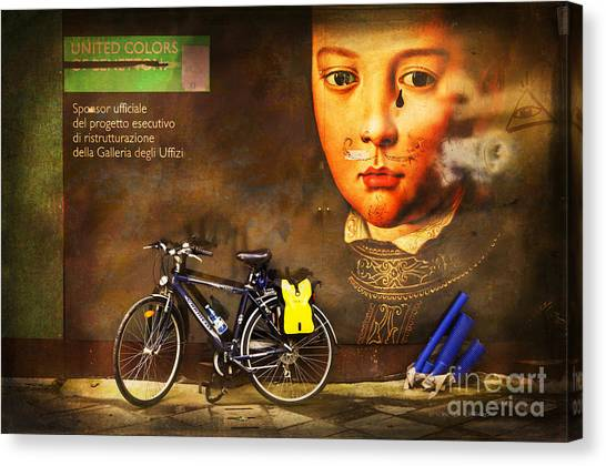 United Colors Bicycle Canvas Print