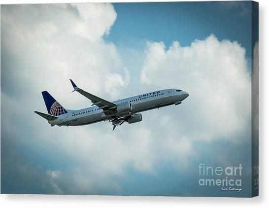 Star Alliance Canvas Print - United Jet N61887 Departure Hartsfield-jackson Atlanta International Airport Art by Reid Callaway